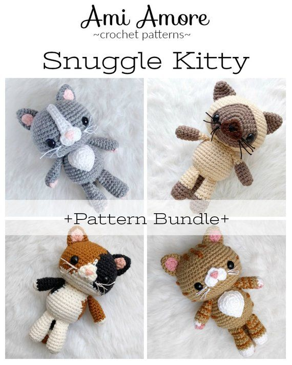 Pattern Bundle: Crochet Kitty Cat Amigurumi Kitty Pattern | Etsy