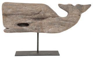 baleine en bois flotté