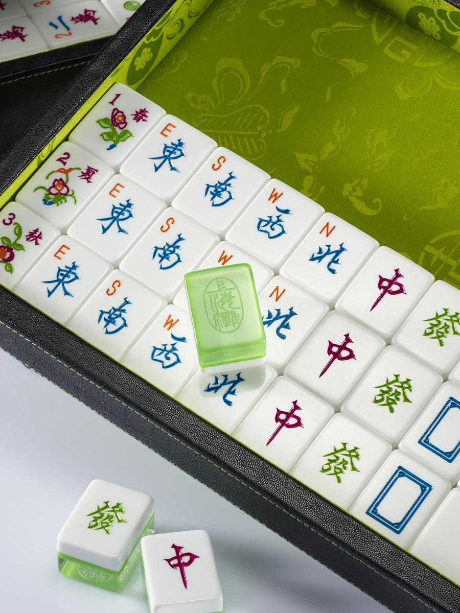Shanghai Tang mahjong set. The tiles are beautiful