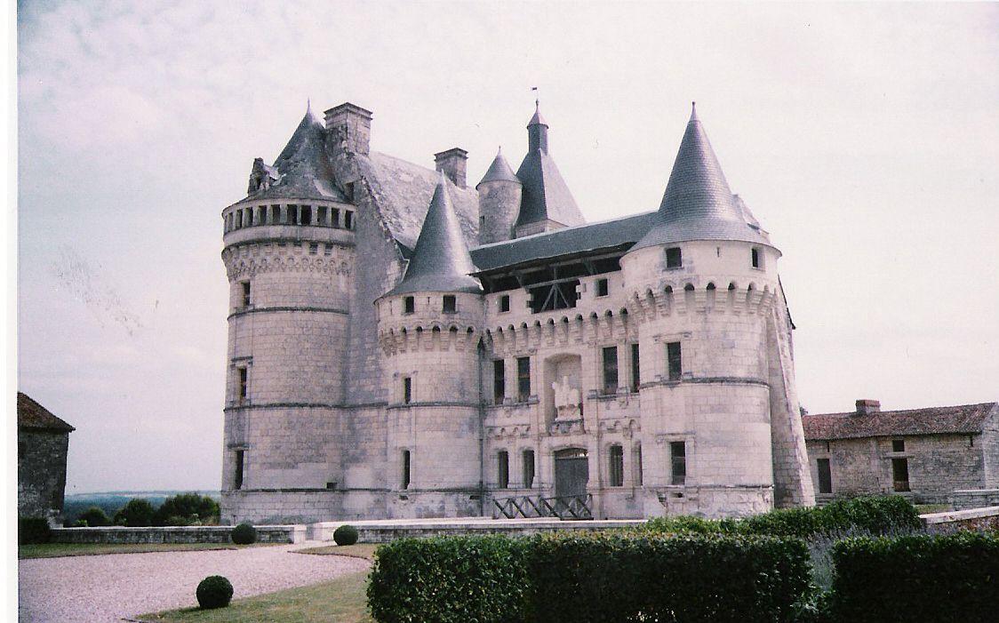 Chateau de la Roche du Maine,1516  Entrée composée d'une corniche avec une statue au dessus et les baies s'ornent de pilastre et colonnes. Les galeries présentent un essai d'organisation a l'italienne des travées et pilastres.