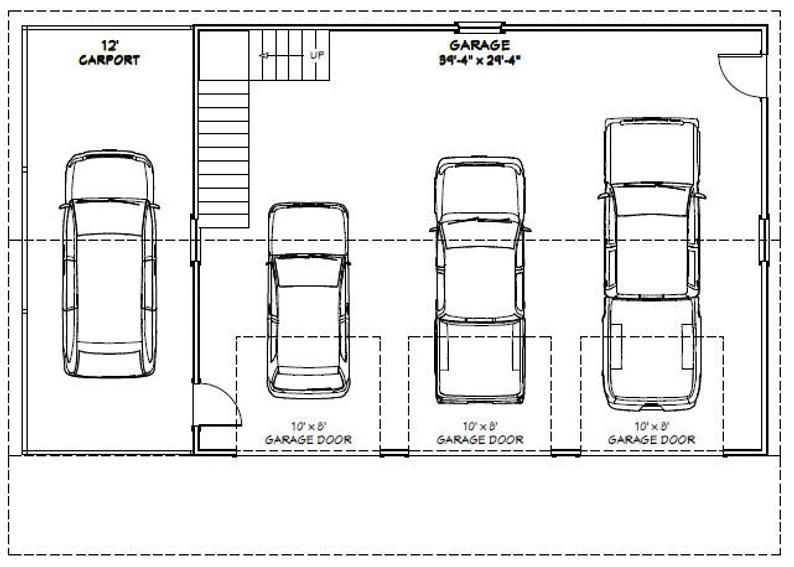 40x30 3 Car Garage 1894 Sq Ft Pdf Floor Plan Instant Etsy In 2020 Car Garage Garage Plans 3 Car Garage