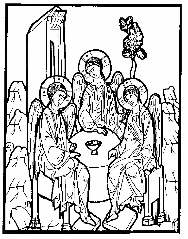 Orthodox Christian Icon Coloring Book- featuring icons