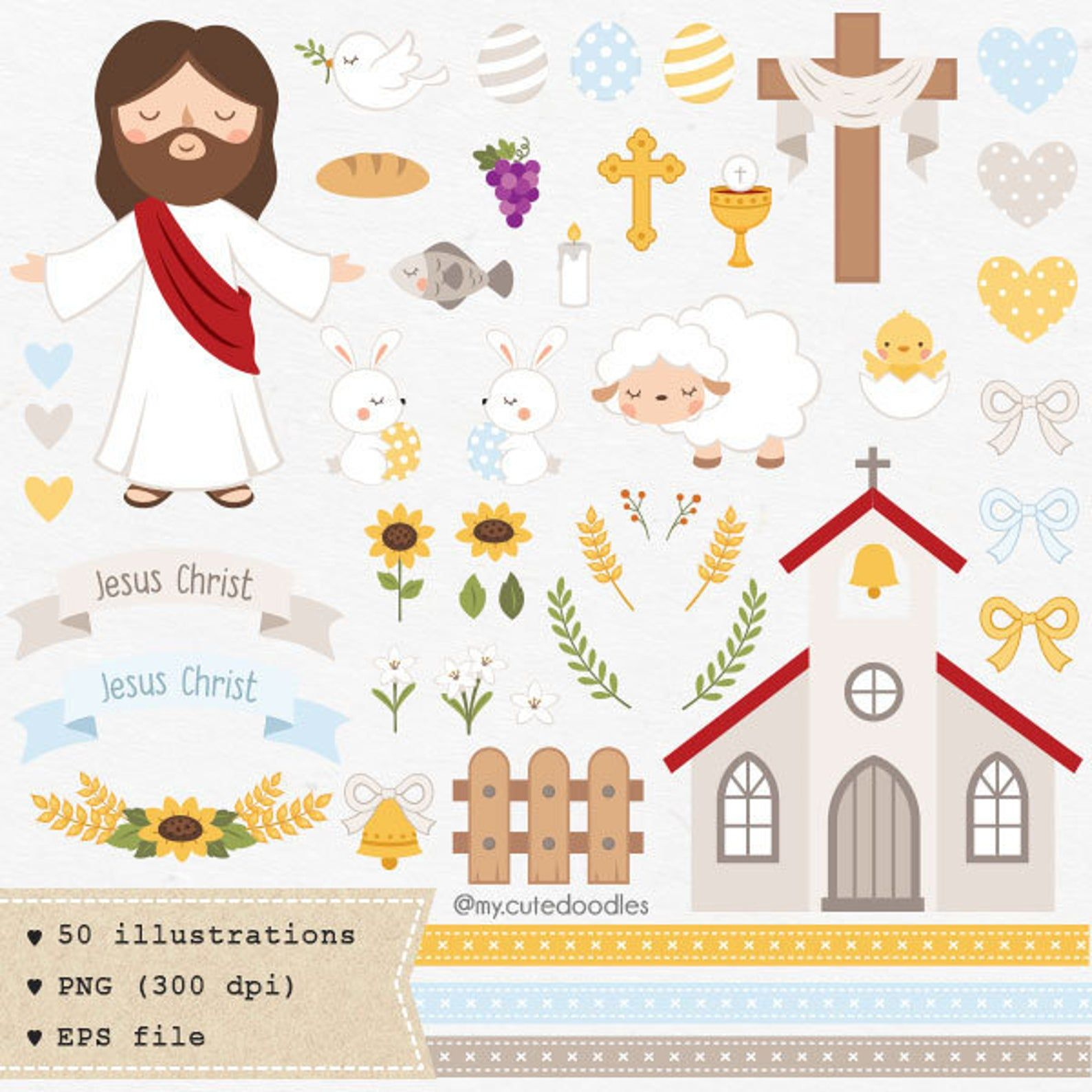 Easter Clipart Jesus Clipart Comercial Use Spring Etsy Easter Clipart Easter Art Clip Art