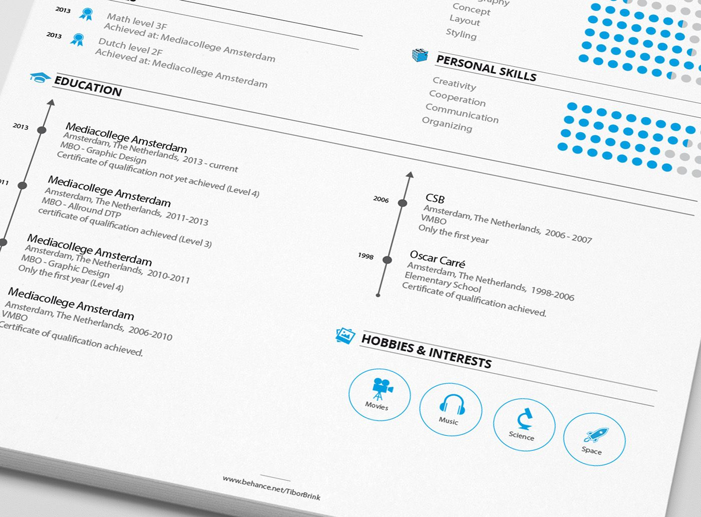 Personal Resume Personal Resume & Promotion On Behance  Design  Pinterest  Free .