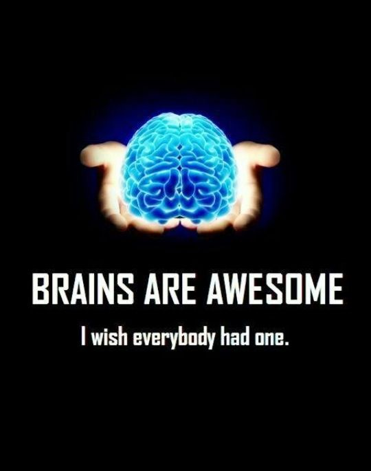 9aa0ed365 Brains Are Awesome. I Wish Everybody Had One. | quotes | Funny ...