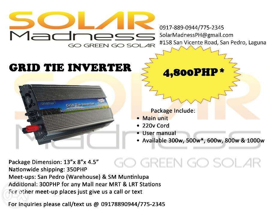 Bosca Solar Grid Tie Inverter 500w For Sale Philippines - Find Brand New Bosca Solar Grid Tie Inverter 500w On OLX