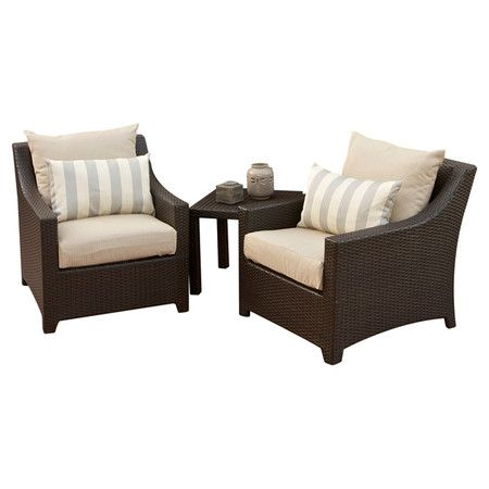 Best Two Hand Woven Outdoor Accent Chairs And A Matching Coffee 640 x 480