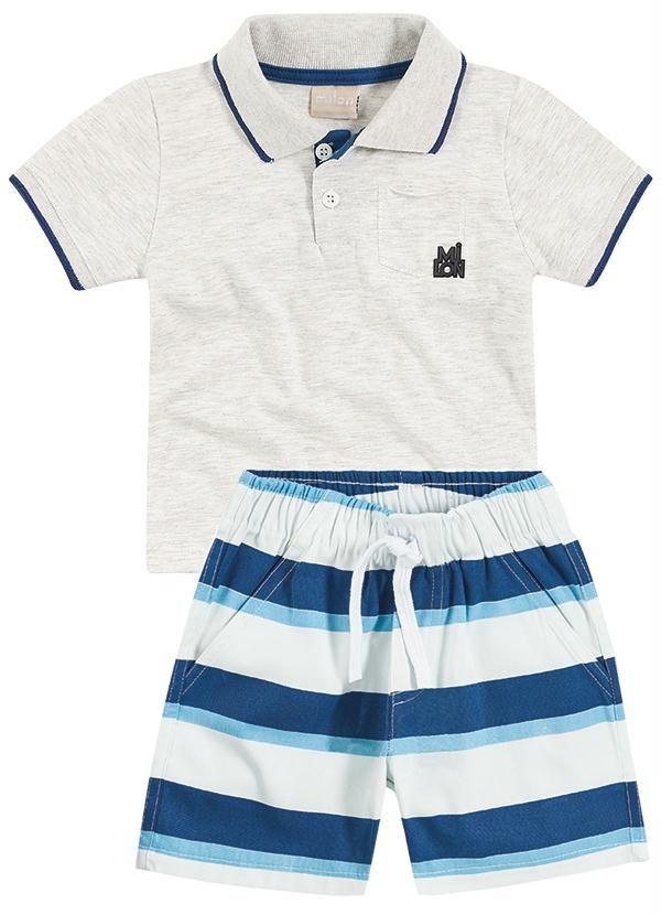 Conjunto Infantil masculino Milon Moda De Bebê Menino 52074921cebf5