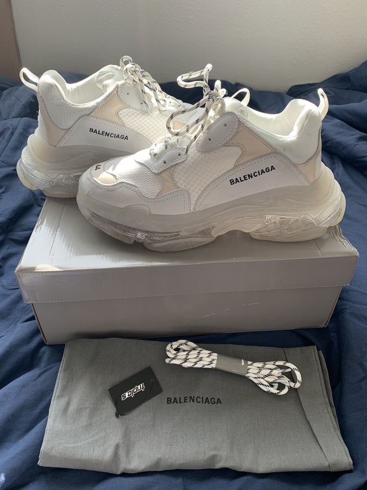 62b861a86cb Balenciaga Triple S White Clear Sole Size 44 2018  fashion  clothing  shoes