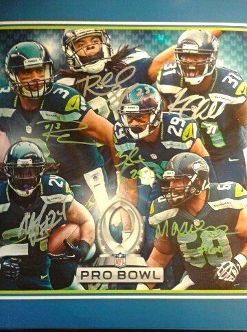 Seattle Seahawks Pro Bowler Autographed 11x14 Photo