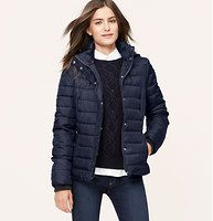 Packable Puffer Jacket - A perfect portable, we're into the get-up-and-go cool of this simply soft and cozy packable style.