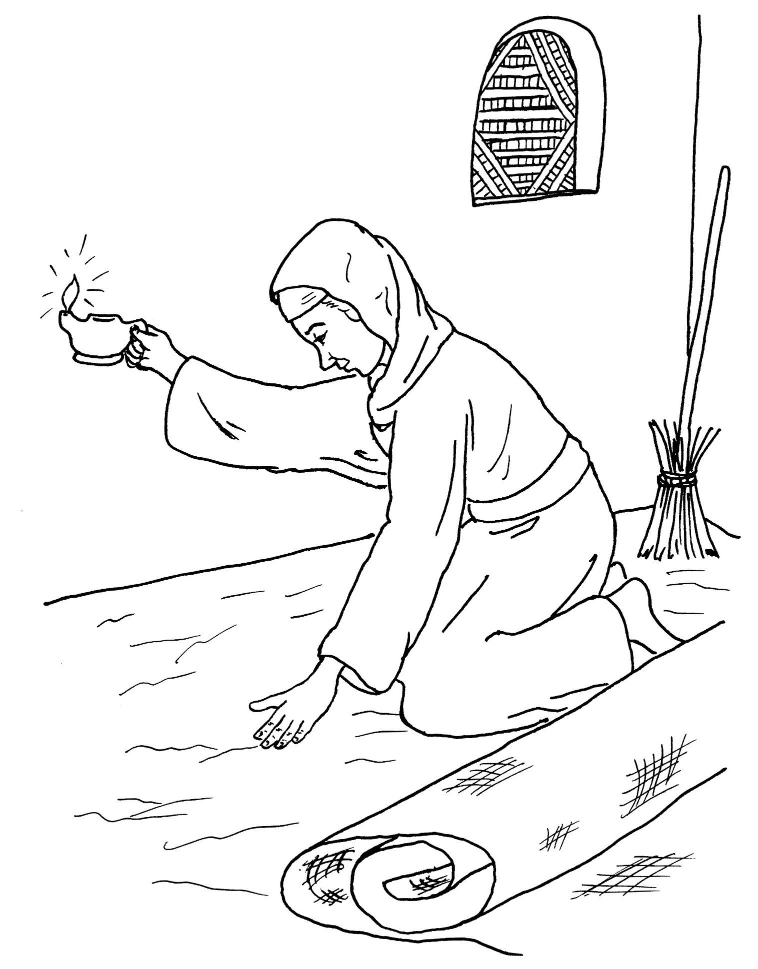 Parable Of The Lost Coin Bing Imagens Coloring Pages