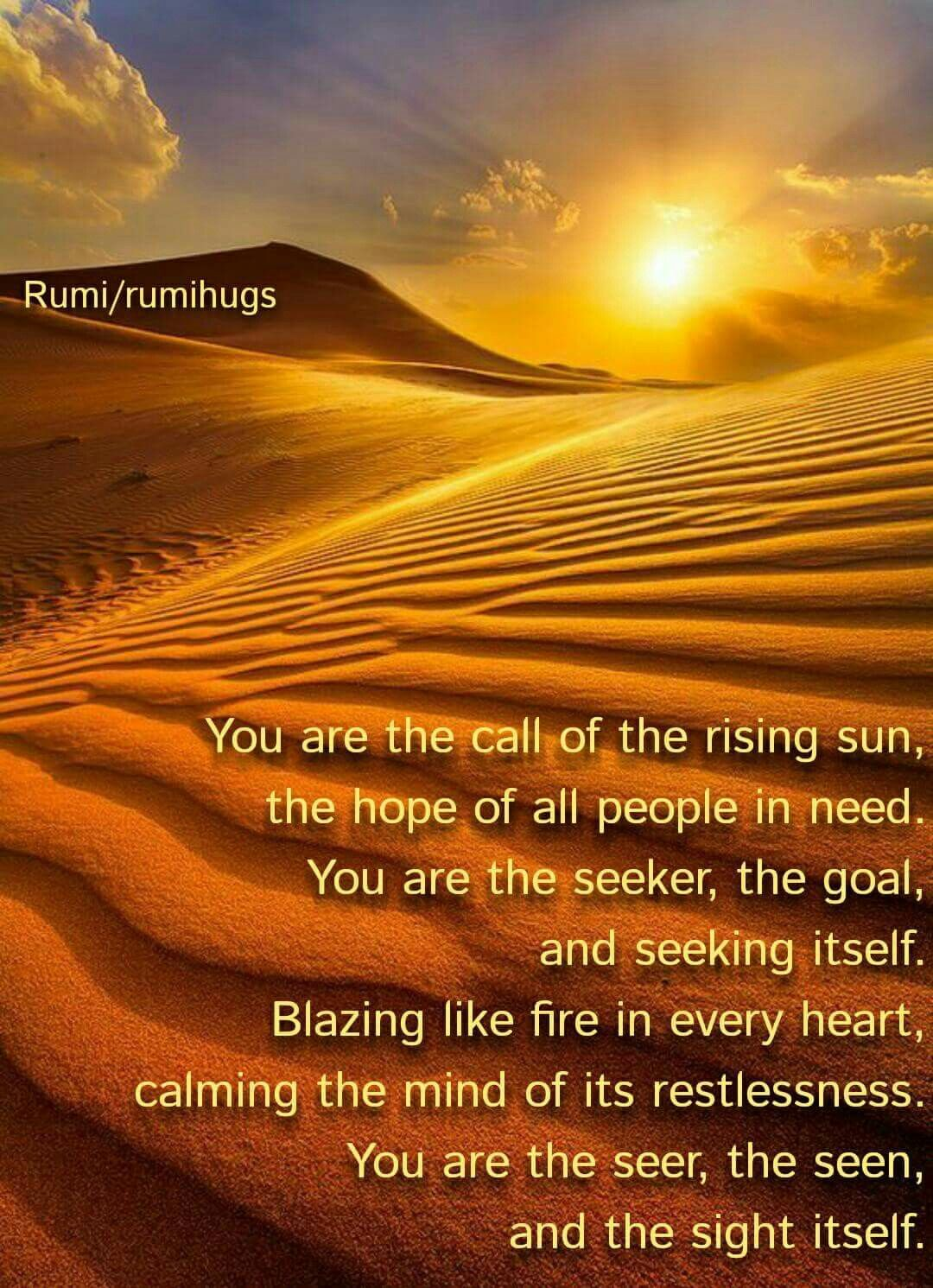You Are The Call Of The Rising Sun The Hope Of All People In Need