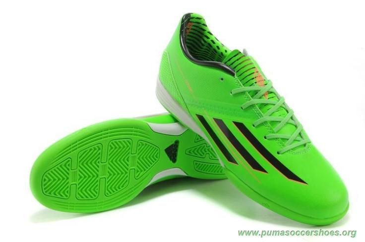Mens Green Black Leo Messi ADIDAS ADIZERO F50 INDOOR Football Boots ... 400bb67984