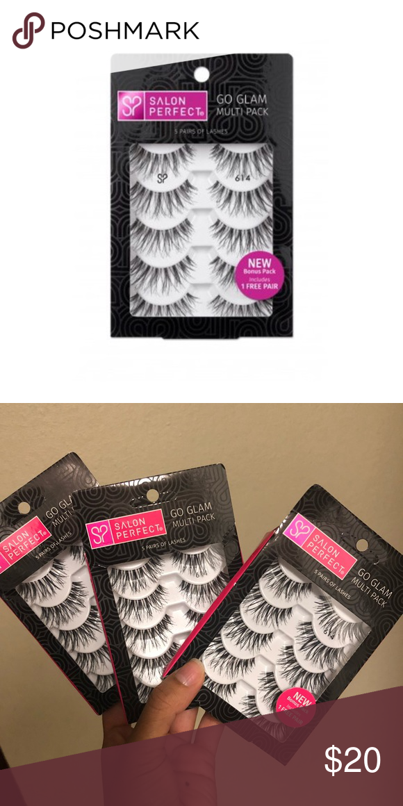eb9c6dd2039 Salon Perfect 614 lashes Brand new in the box. Price is for all three! 15  pairs! Makeup False Eyelashes