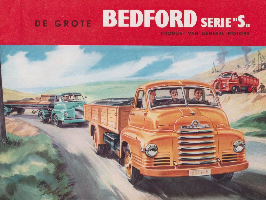 BEDFORD Truck Dealer Brochure Model SSC, SLC, SA en SB (Holland 1958)