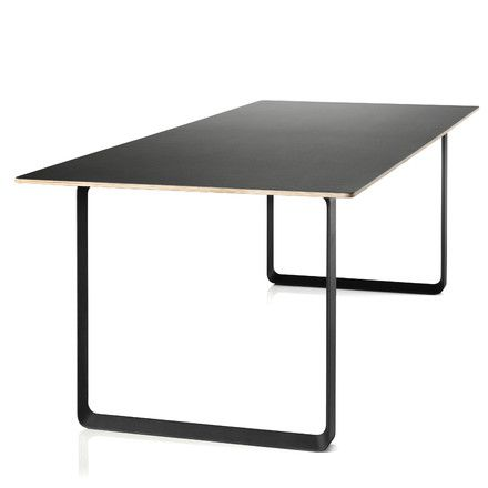 Esstisch schwarz  Muuto - 70/70 Esstisch 225 x 90 cm, schwarz (Linoleum) | Esstische ...