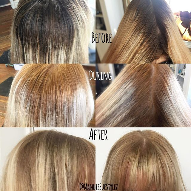 Masterartist Mandie On Instagram Starting Level 6 And Desired Level 9 1st Process Used Redken Blo Hair Color Formulas Cool Hair Color Hair Color Images