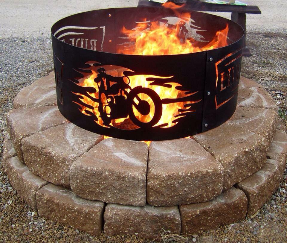 Sweet idea! | Fire pit, Fire pit australia, Stone fire pit