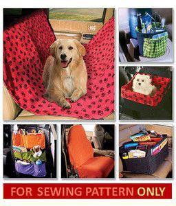 Car Organizers Pattern Seat Cover Dog Seat Toy Storage