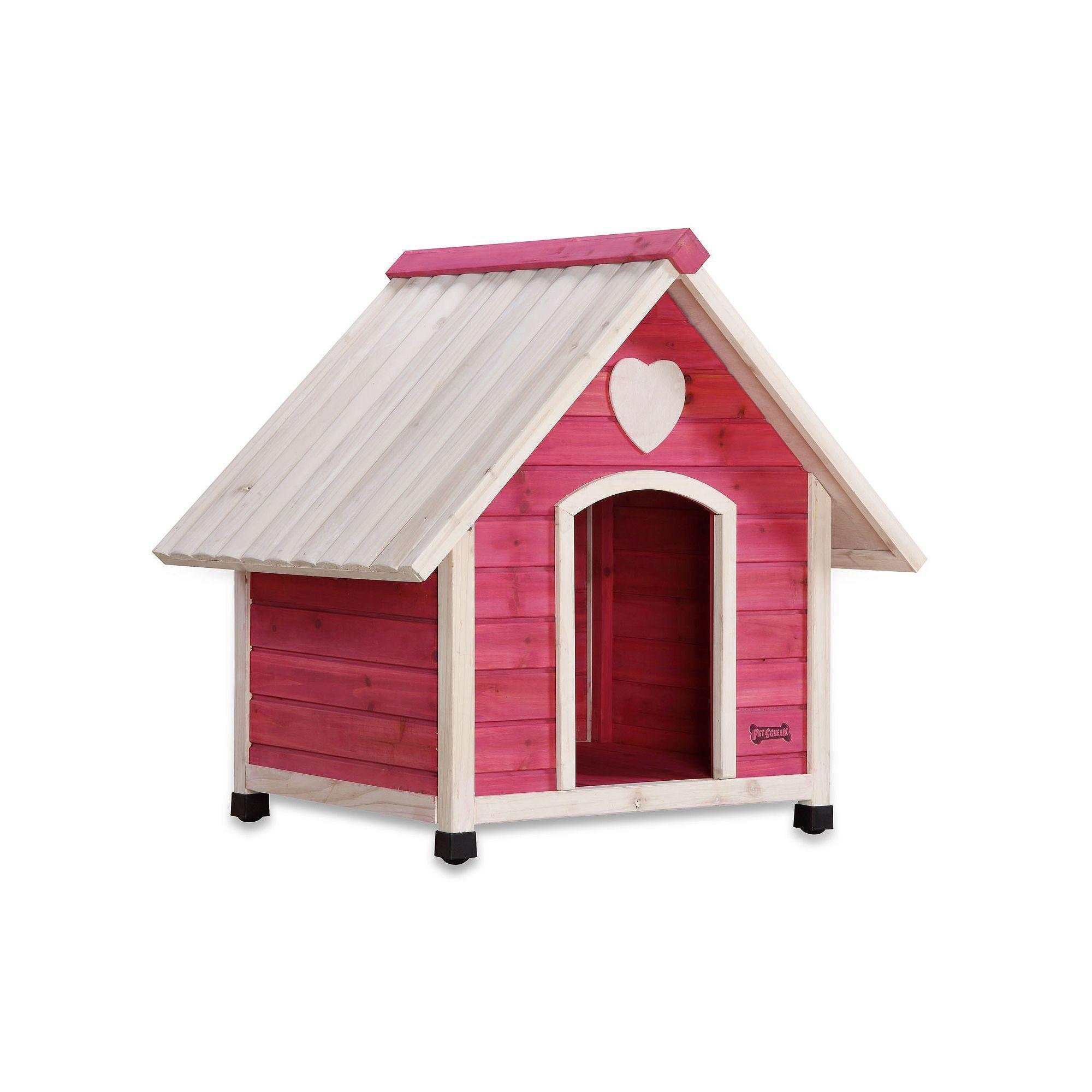 Pet Squeak Pink Arf Frame Dog House Medium Large Dog House