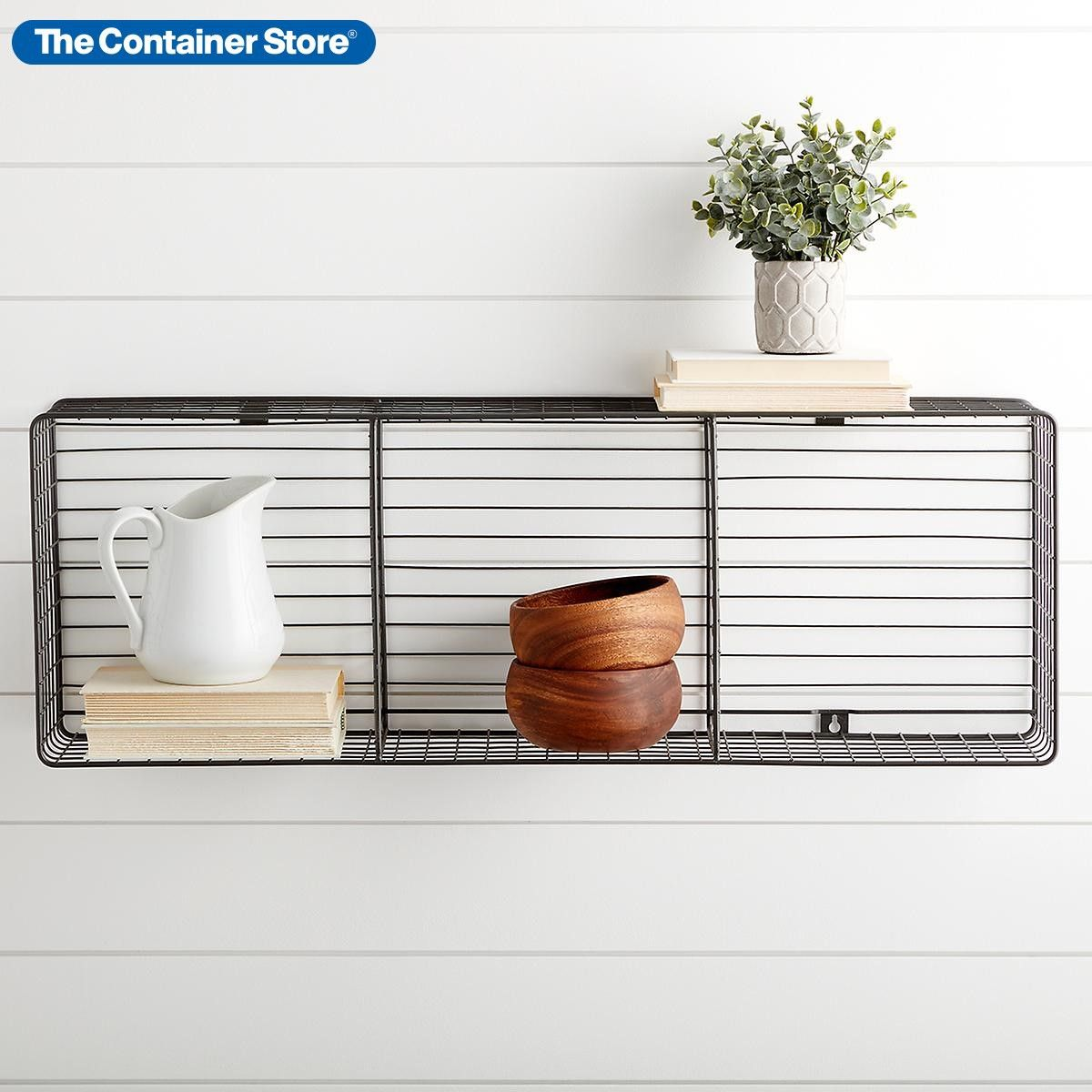 Wall Mounted Triple Cube In 2020 Cube Storage Container Store Wall Cubes