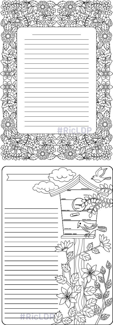Four Coloring Journals Coloring Journal Journal Pages Diy Coloring Books
