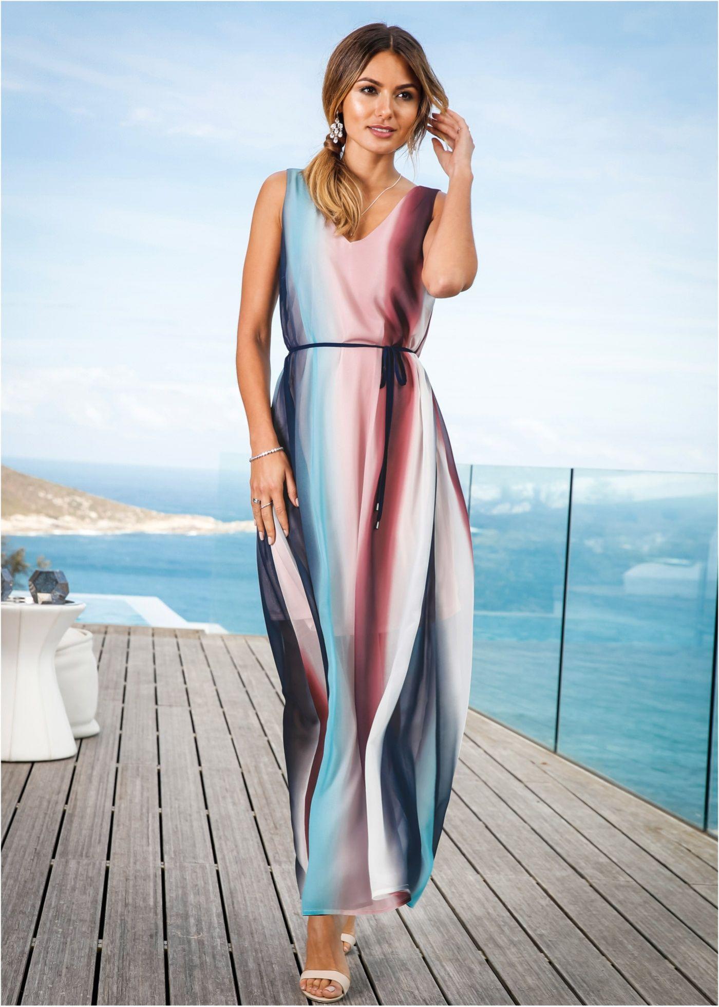 Chiffon-Maxikleid mit Farbverlauf rosa/dunkelblau/polarmint - BODYFLIRT jetzt im Online Shop von bonprix.de ab ? 49,99 bestellen. Aufregendes ...