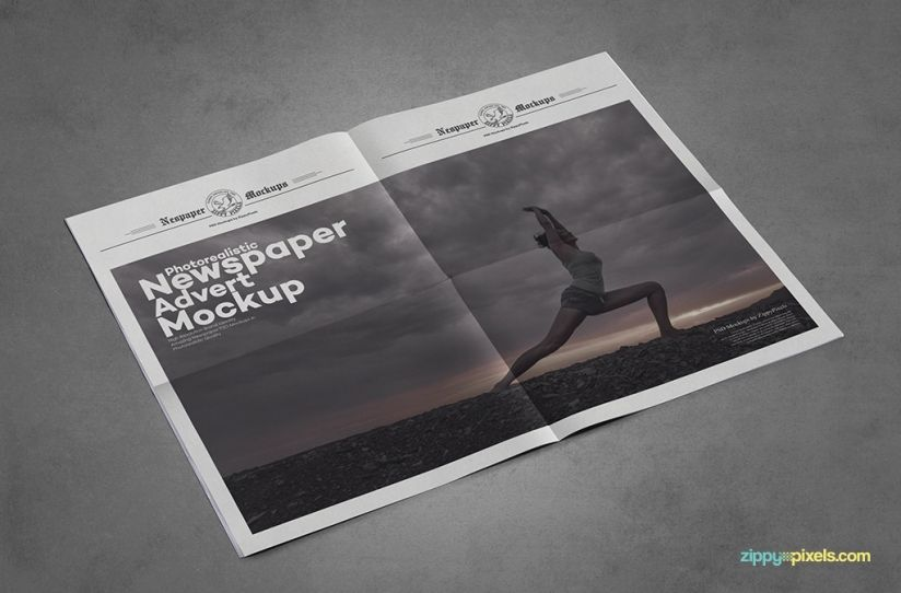 Outdoor Newspaper Advertising Mockups  Mockup