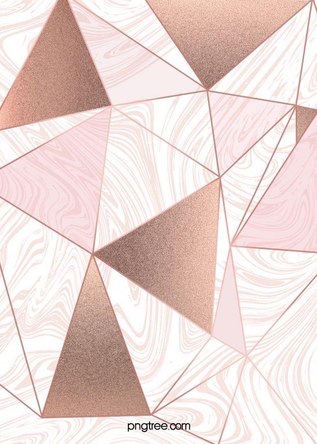 2020 的 Rose Gold Geometric Edge And Corner Background 主题