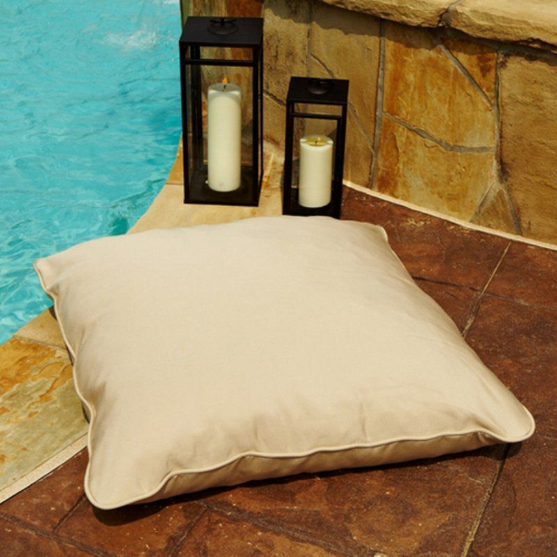 Sunbrella Corded Indoor Outdoor Large 26 In Square Floor Pillow
