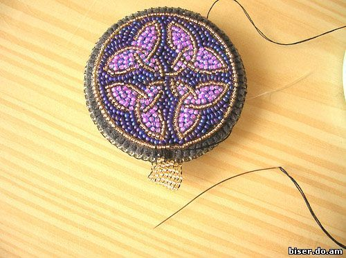 Tutorial for amazing embroidered pendant   Beads Magic