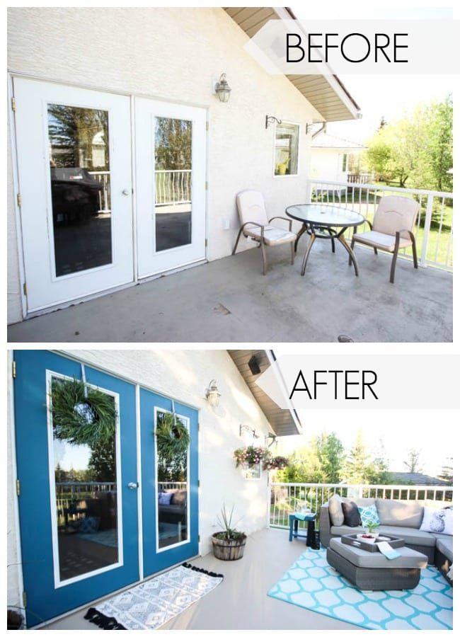 Brighten Up Your Boring Patio with BEHR Paint - Love Create Celebrate