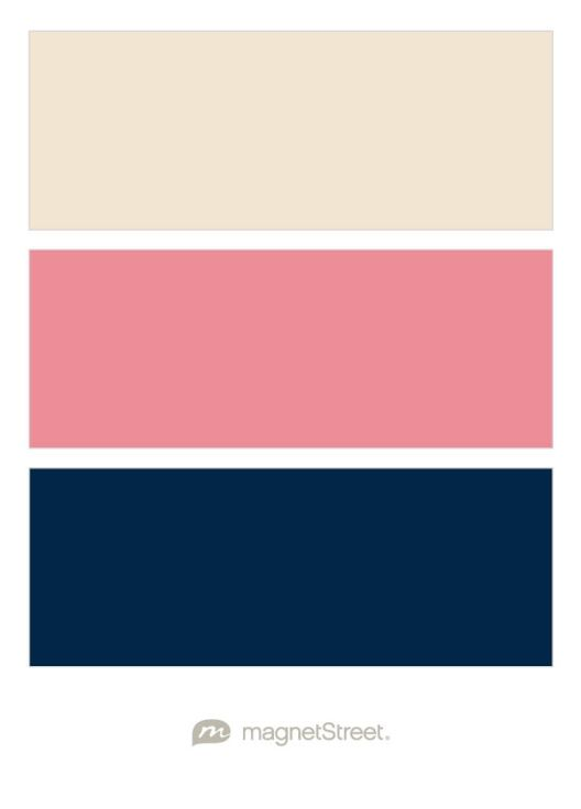 Champagne Dusty Rose And Navy Wedding Color Palette Custom Created At Magnetstreet