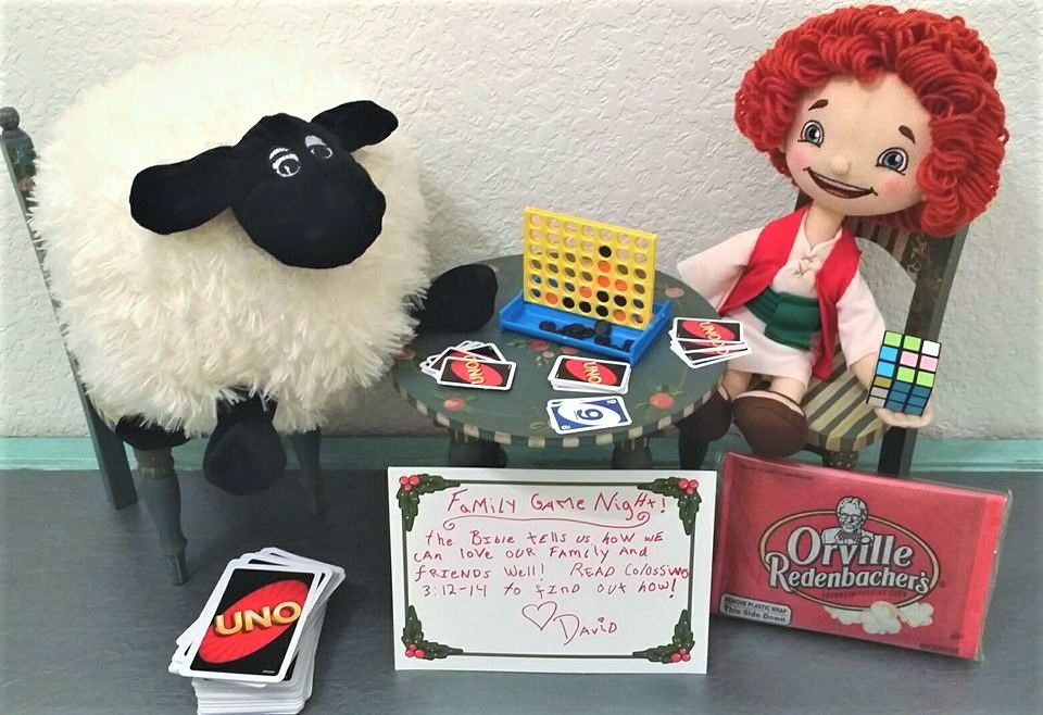 Family game night  Join us on The Shepherd's Treasure adventure this Christmas season-an elf alternative-that leads your child to the best treasure-Jesus! Want to learn more?  Check out our website: https://www.theshepherdstreasure.com and follow our Facebook page: https://www.facebook.com/shepherdstreasure/?fref=ts