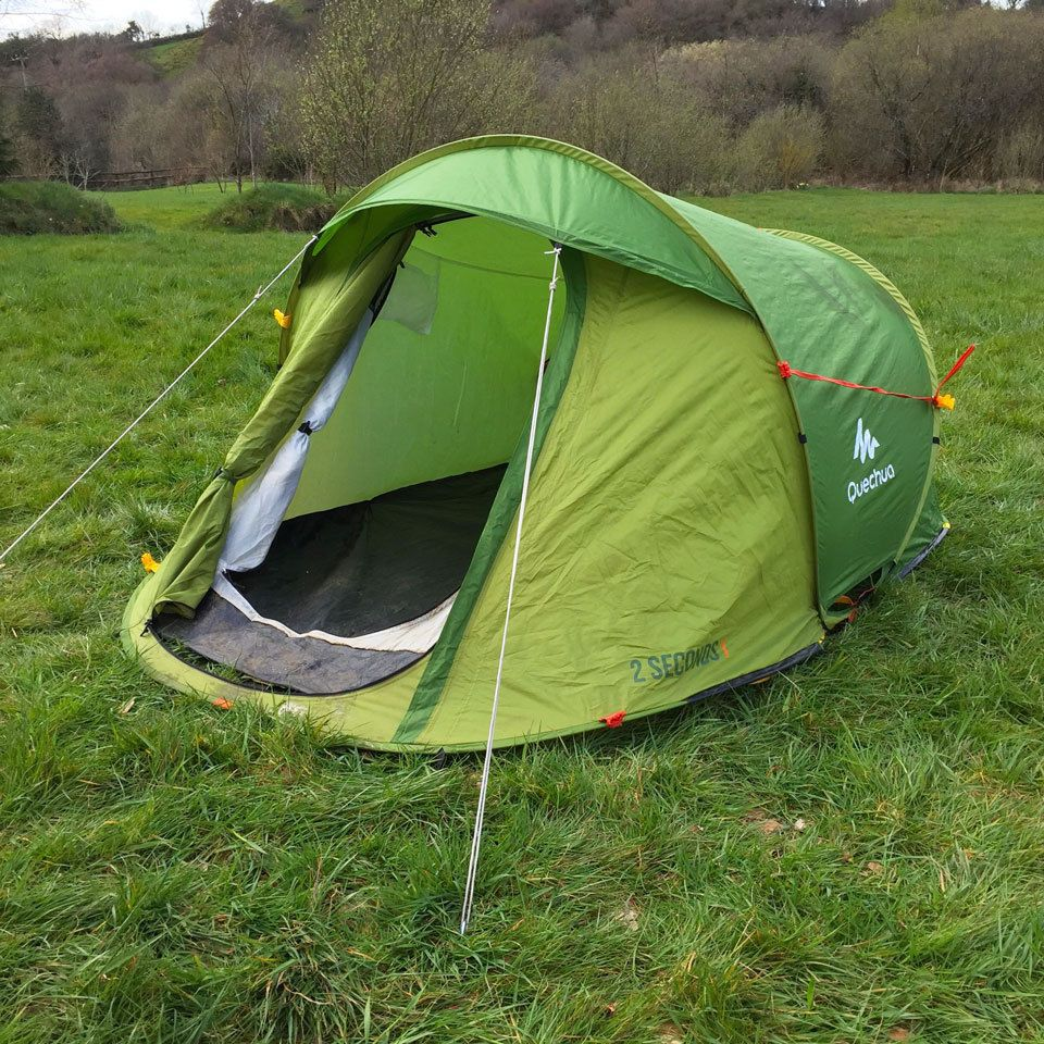 Quechua 2 Seconds 1 Easy - 1 Man Popup Tent- C&ing / Festivals (pop : cheap 1 man pop up tent - memphite.com