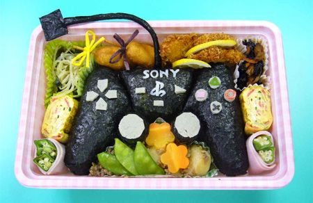 Fun Nintendo bento box art lunch
