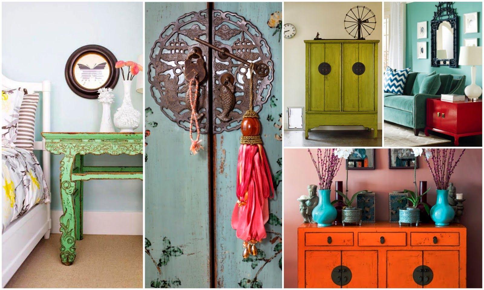 Modern Asian Decor - Color! #PinspirationThursdays