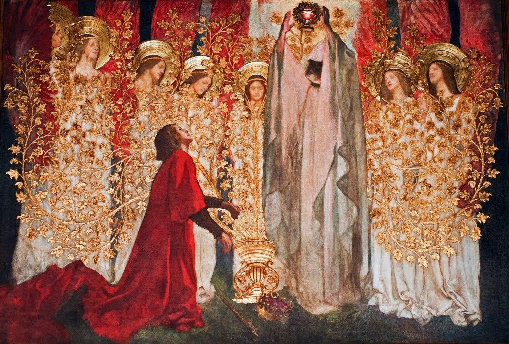 The Quest and Achievement of the Holy Grail,  by Edwin Austin Abbey, c. 1895