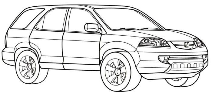 Honda MDZ Coloring Page Teacher Stuff Pinterest Honda