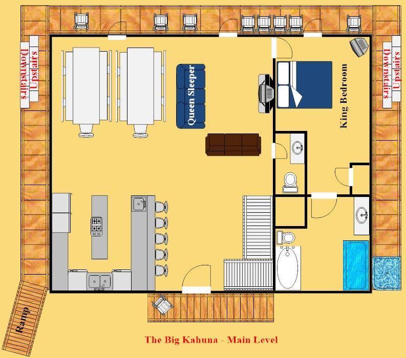 Gatlinburg Cabin - The Big Kahuna - 9 Bedroom - Sleeps 30 - Bunk ...
