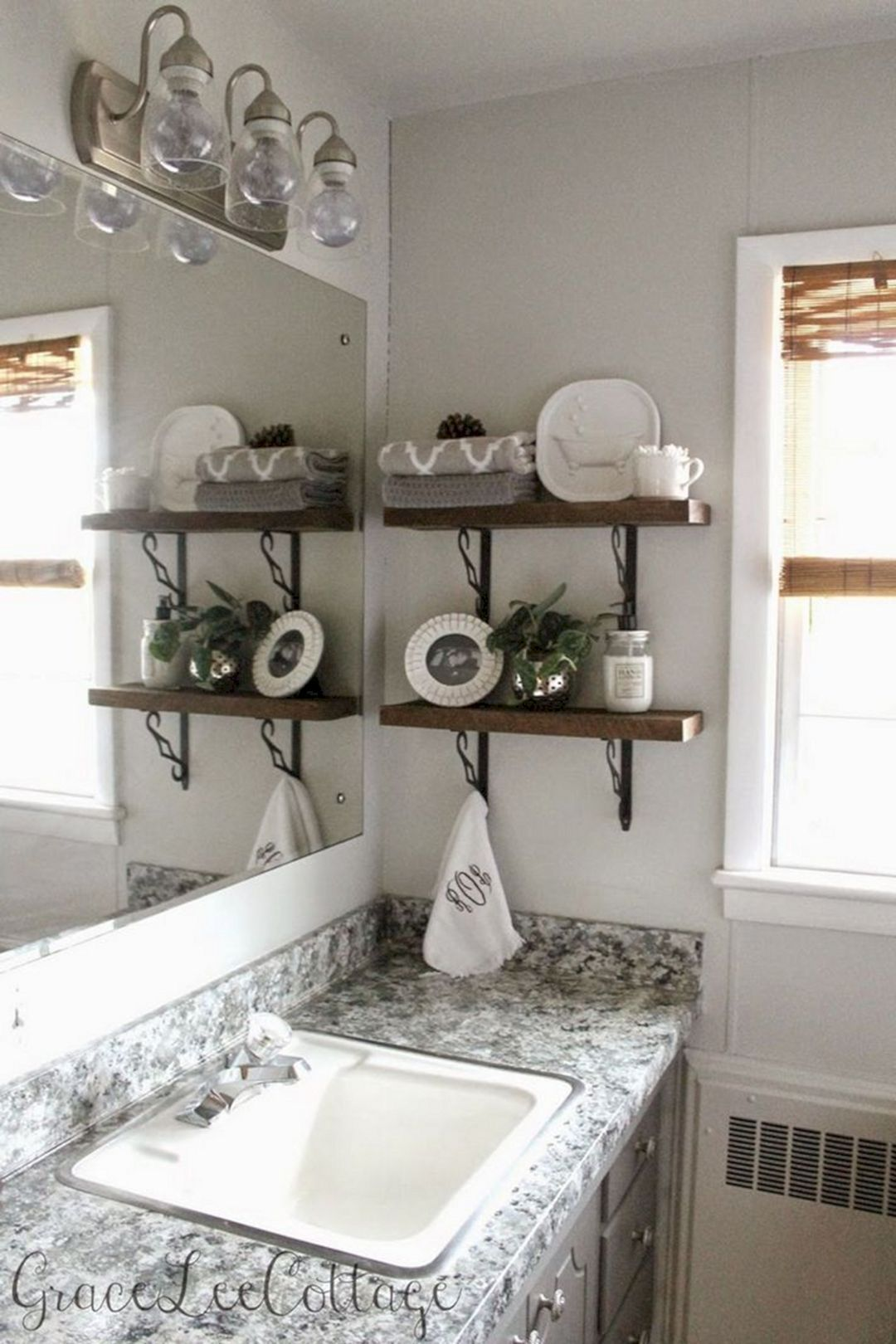 20 DIY Floating Shelves and Bathroom Update (With images