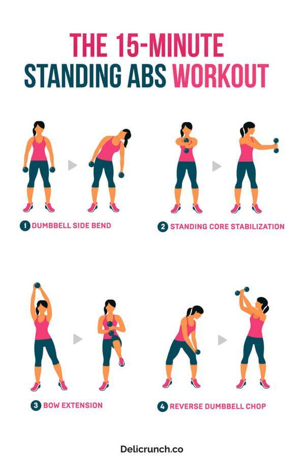 15-minute standing abs workout you must do #exercise #fitness #abworkout #flatstomach #health #easyw...