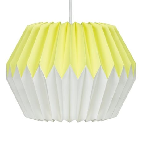 Trouva wild wood lemon yellow origami paper lampshade lamp shades trouva wild wood lemon yellow origami paper lampshade aloadofball Image collections