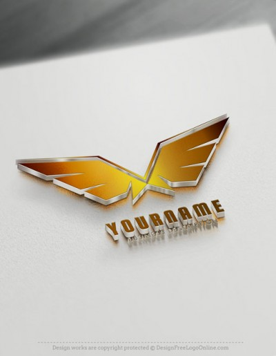 Wings Logo Maker Free online Eagle Logo Wings symbol