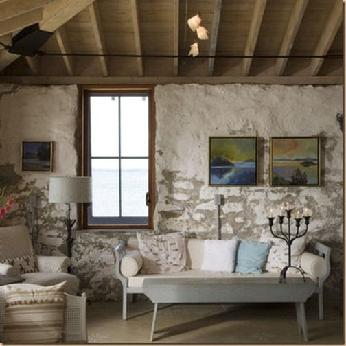 Painted Stone On Walls From: Https://sherimartininteriors