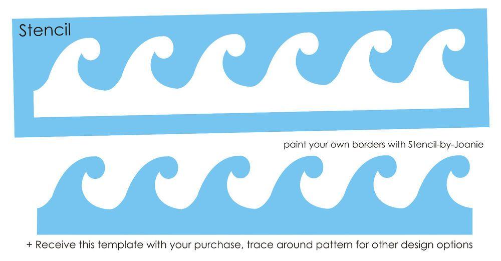 Large Ocean Wave Template Printable