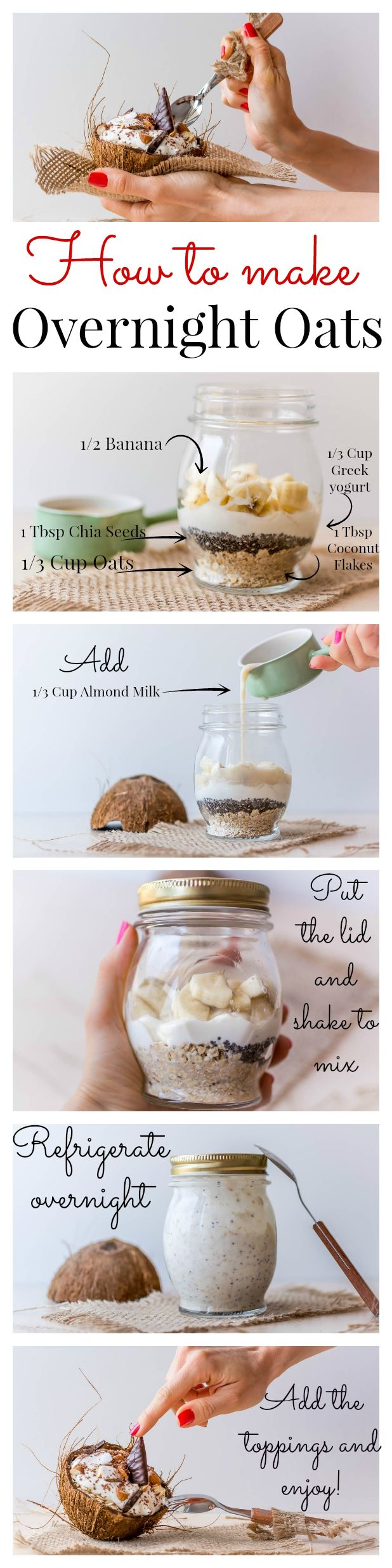How to make overnight oats with coconut milk