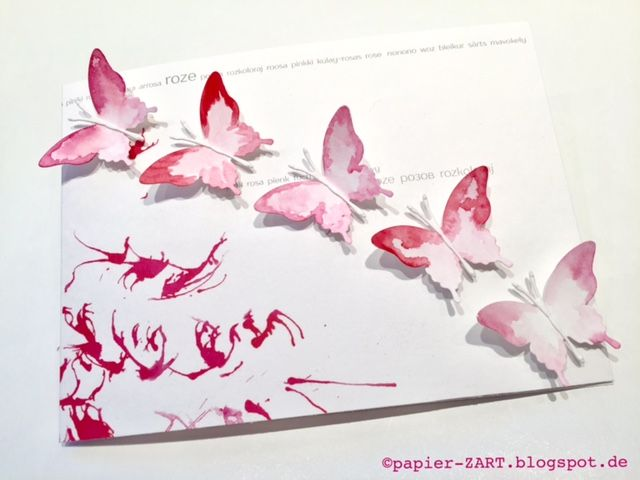 papierZART : da war noch was, Schmetterlinge, Aquarell, Pink Fresh ...