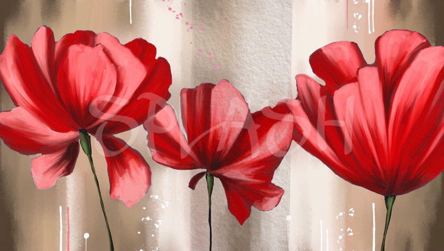 Pintar Cuadros De Flores Grandes